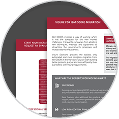 Download Visure for IBM DOORS Migration Brochure